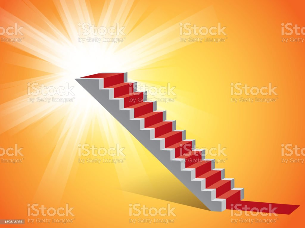 Step in shinny background royalty-free stock vector art