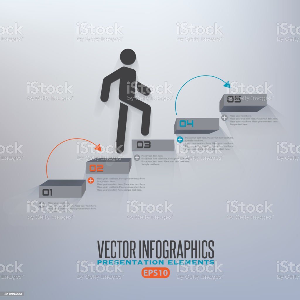 Step infographics illustration vector art illustration