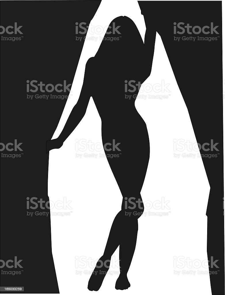 Step into the light. royalty-free stock vector art
