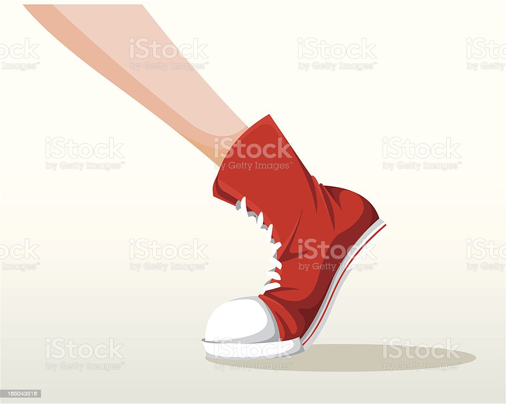 Stepping shoes royalty-free stock vector art