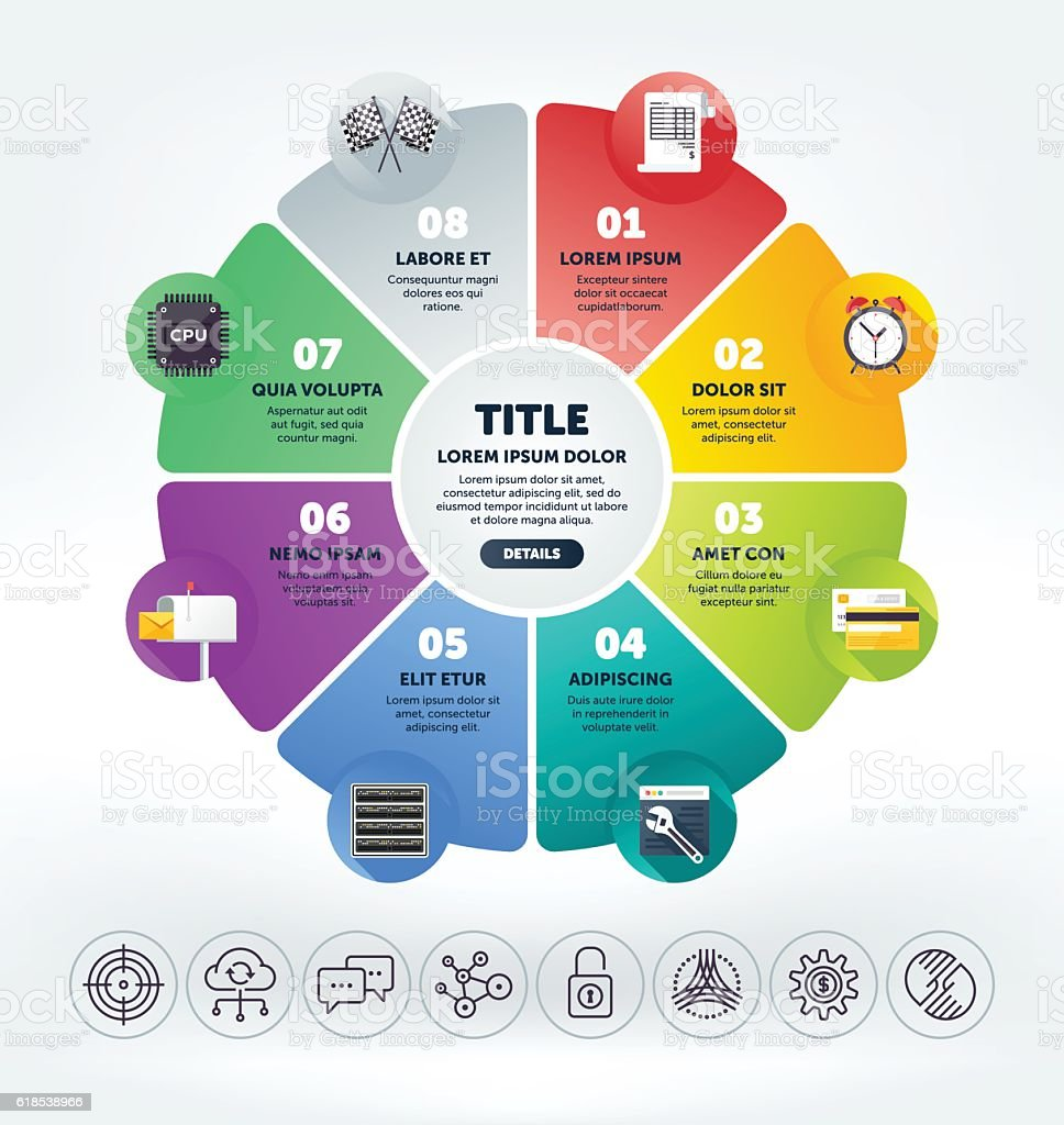 Steps Infographic vector art illustration