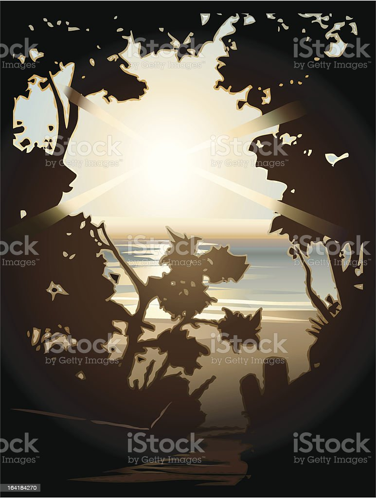 Steps To The Sun royalty-free stock vector art