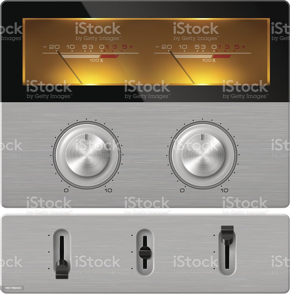 stereo control panel royalty-free stock vector art