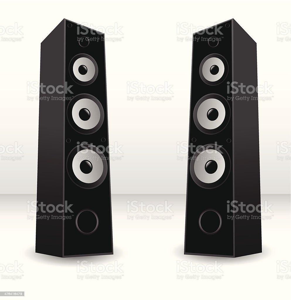 Stereo speaker royalty-free stock vector art