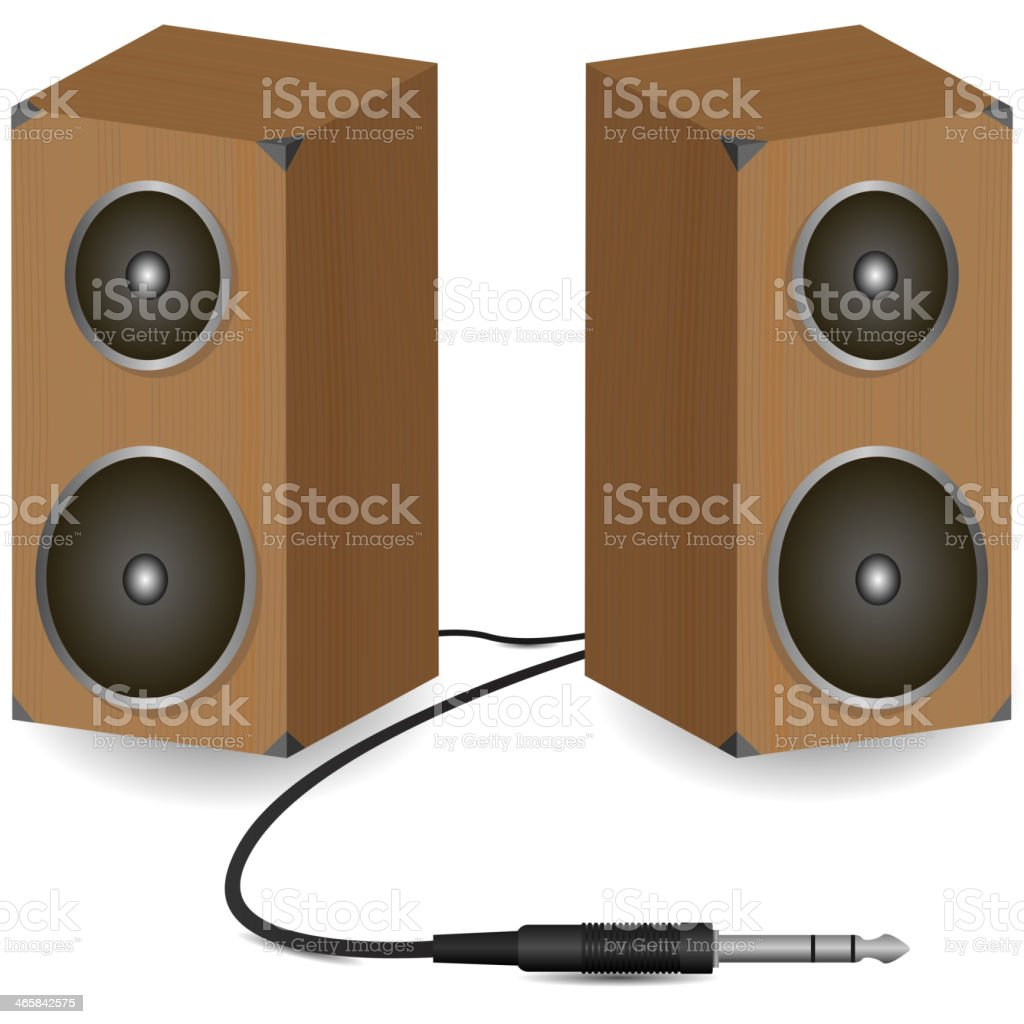 Stereo speakers vector art illustration