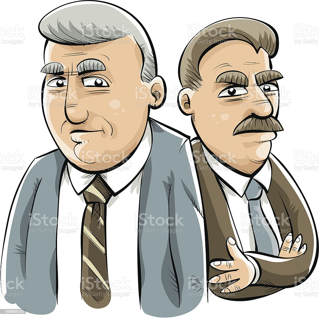Stern Businessmen royalty-free stock vector art