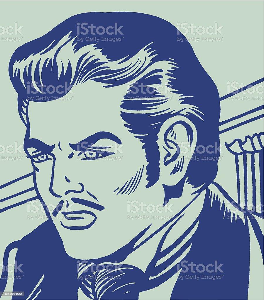 Stern Man royalty-free stock vector art