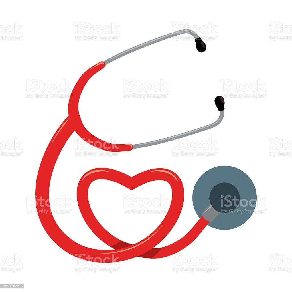 stethoscope design vector art illustration