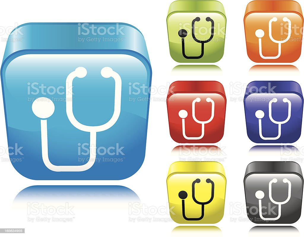 Stethoscope Icon royalty-free stock vector art