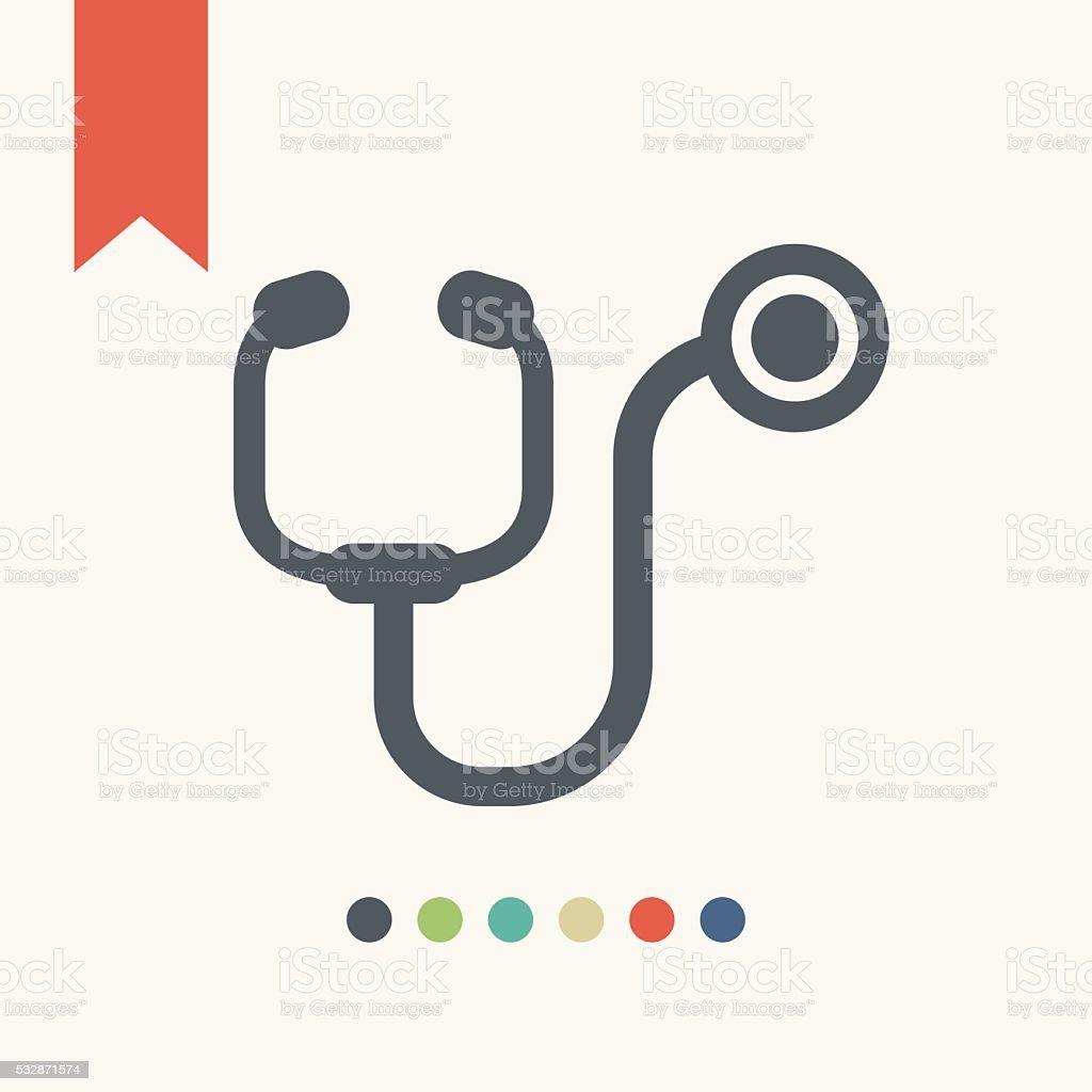 Stethoscope icon vector art illustration