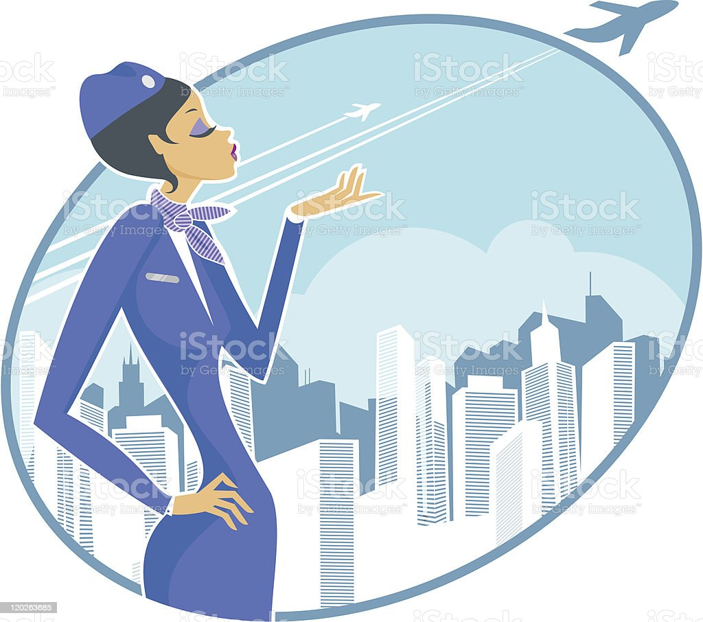 Stewardess royalty-free stock vector art