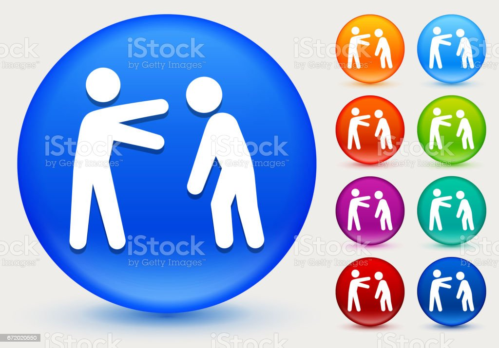 Stick Figure and Drunk Icon on Shiny Color Circle Buttons vector art illustration