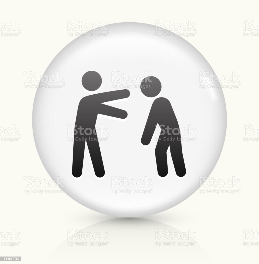 Stick Figure and Drunk icon on white round vector button vector art illustration
