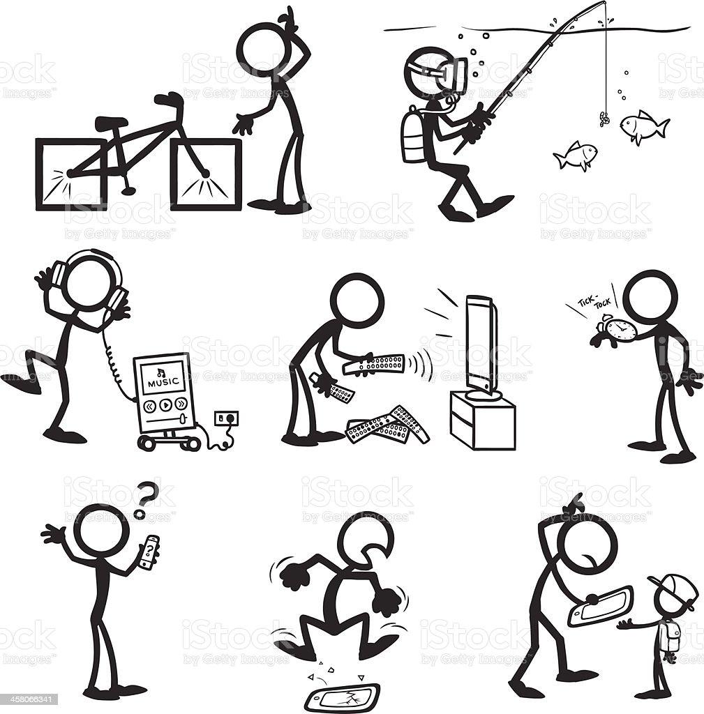 Stick Figure People Bad Usability vector art illustration