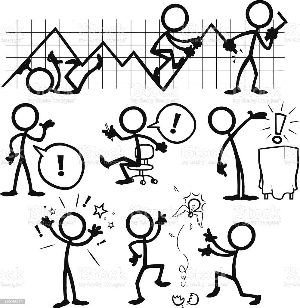 Stick Figure People Business Ideas vector art illustration