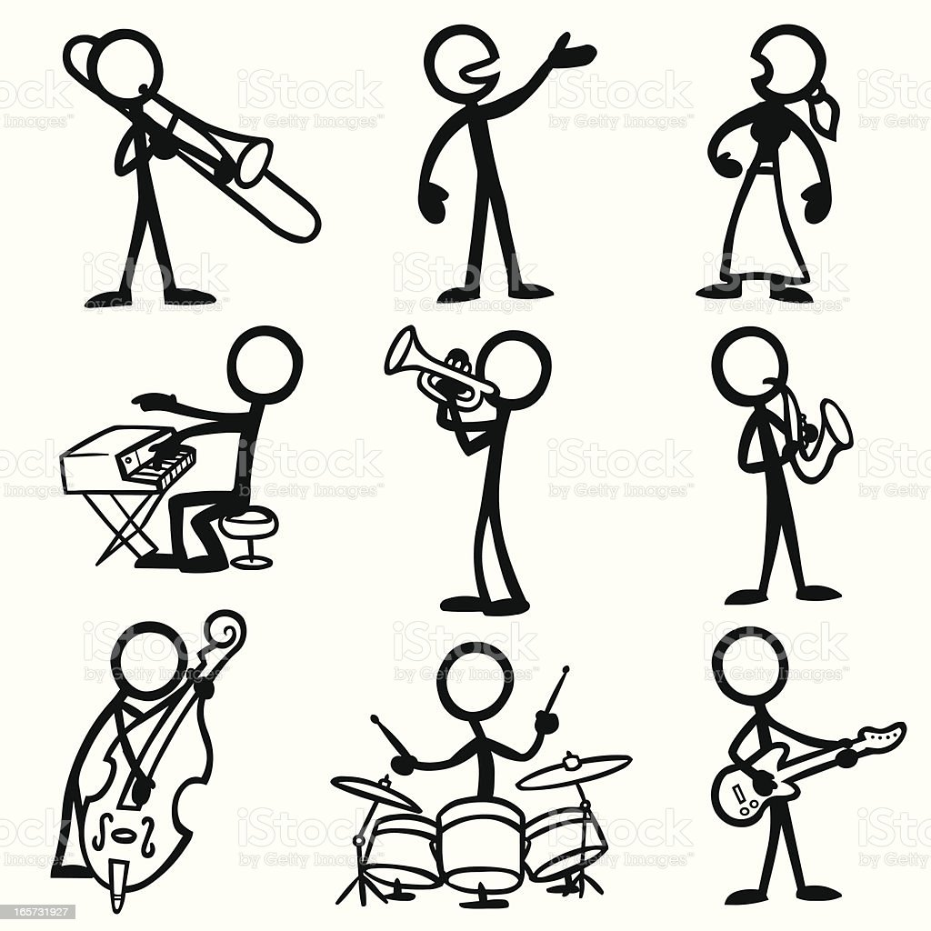 Stick Figure People Violin Stock Vector Freeimages Cartoon Fuse Box Jazz Art Wiring Diagram And