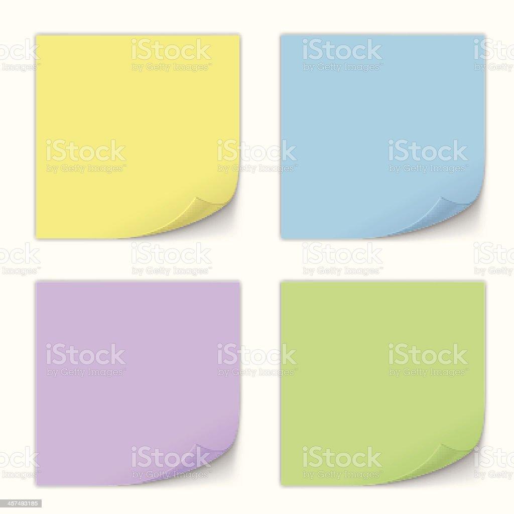 Stick Note Set. Vector vector art illustration