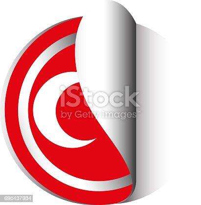 Sticker design for flag of turkey stock vector art 695437934 istock