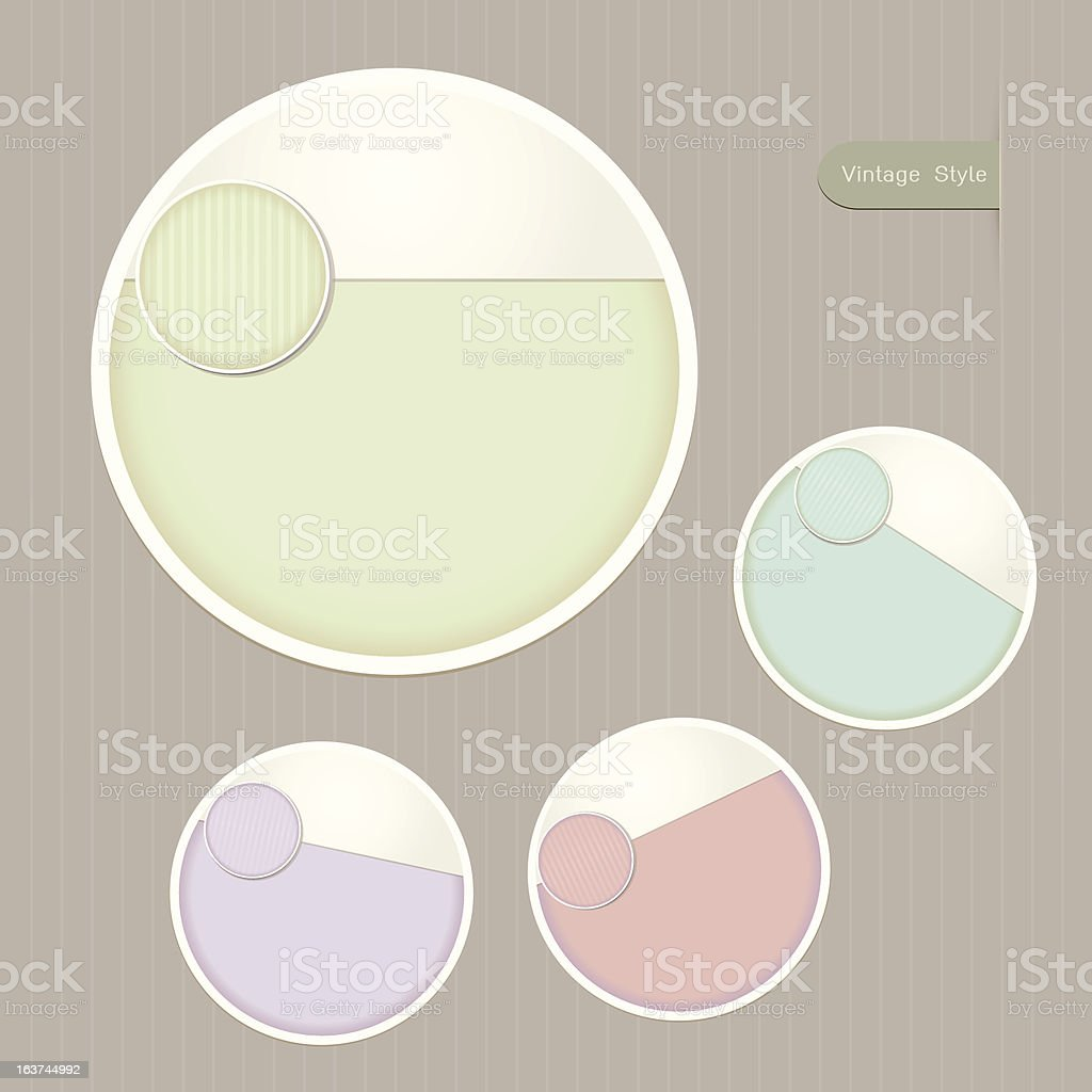 Sticker Label color set royalty-free stock vector art