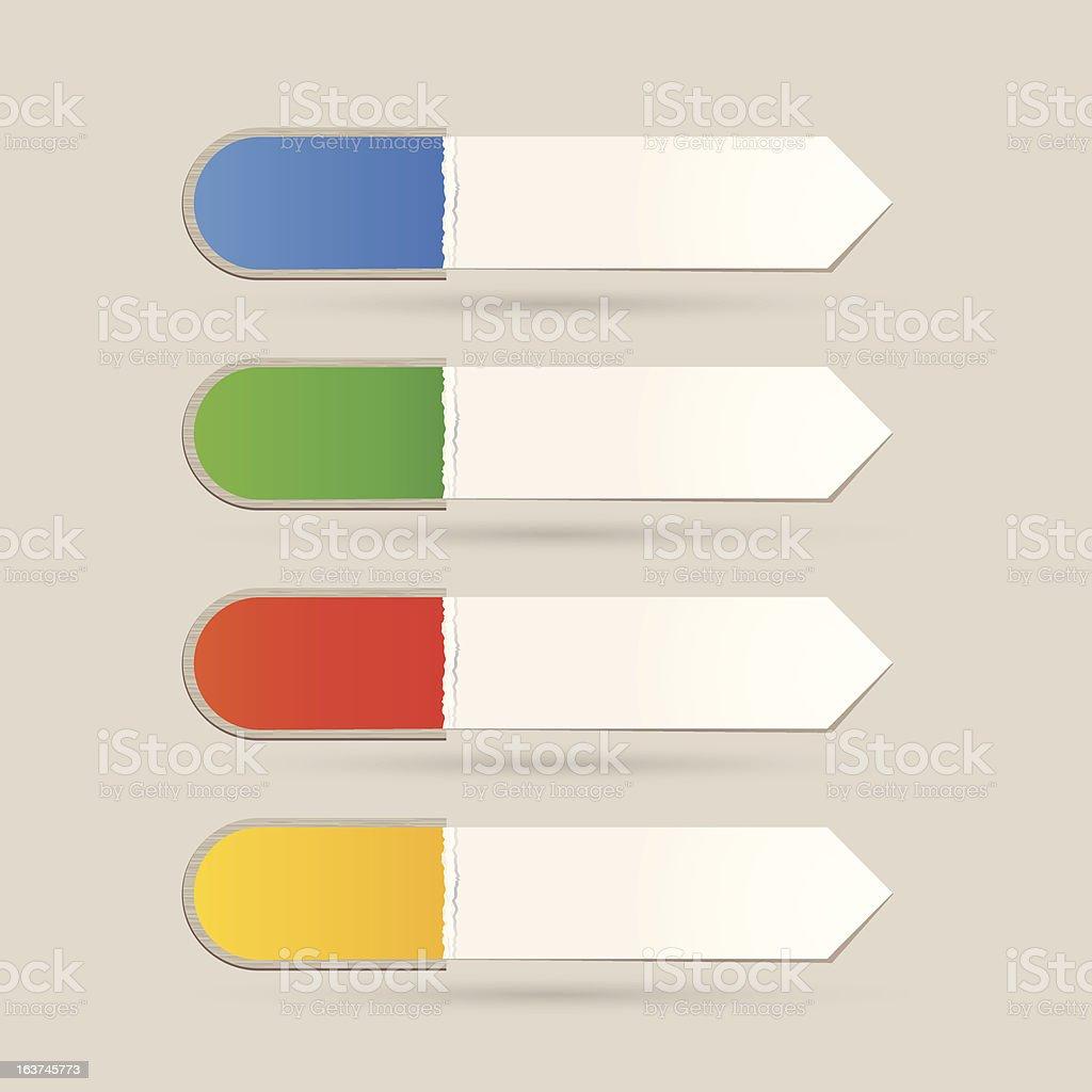 Sticker Label color set royalty-free stock vector art