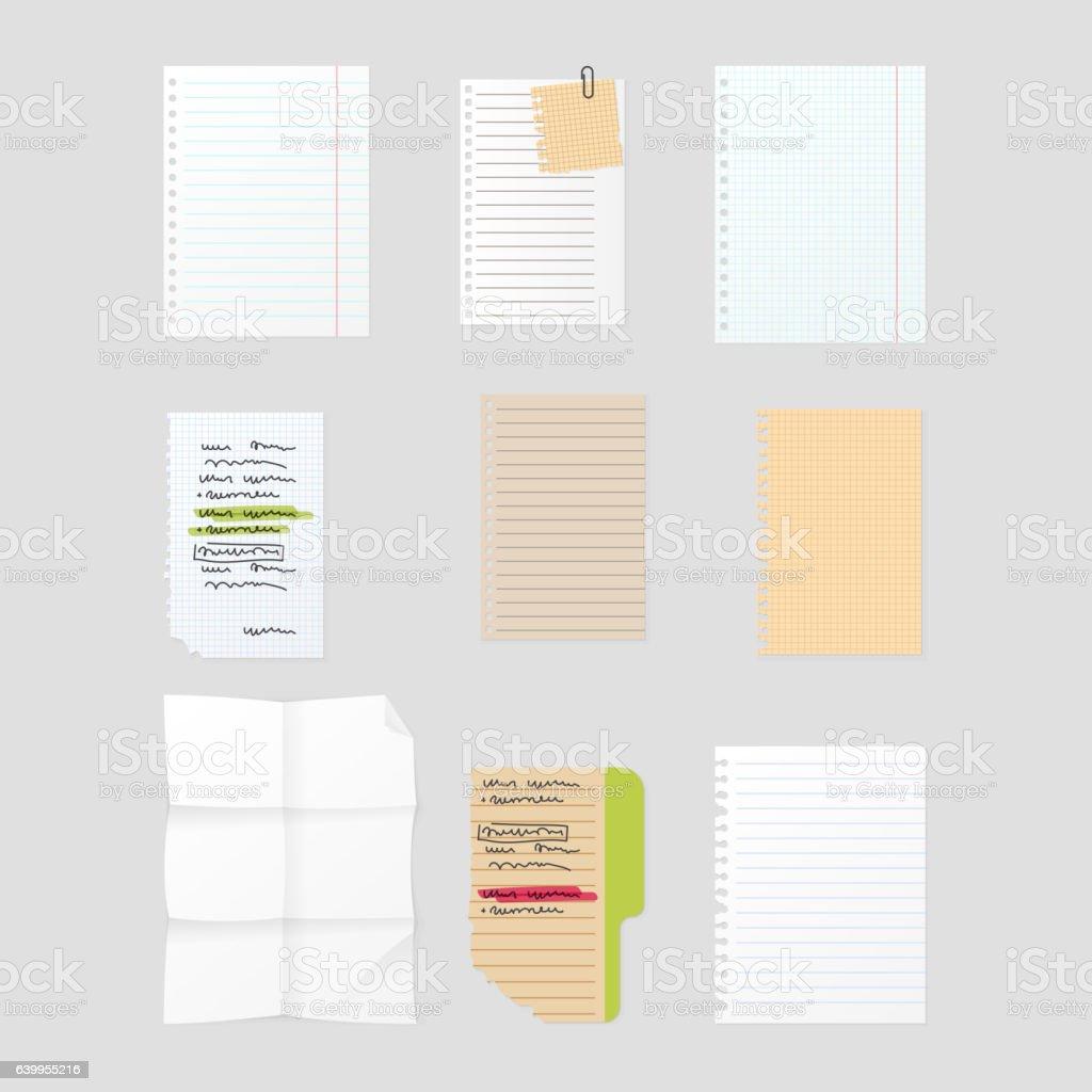 Sticker notes vector illustration. vector art illustration