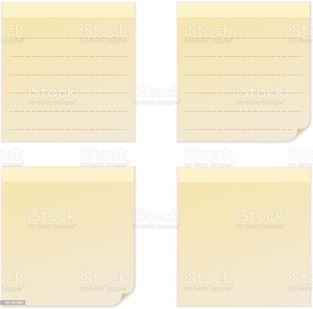 sticker paper note royalty-free stock vector art