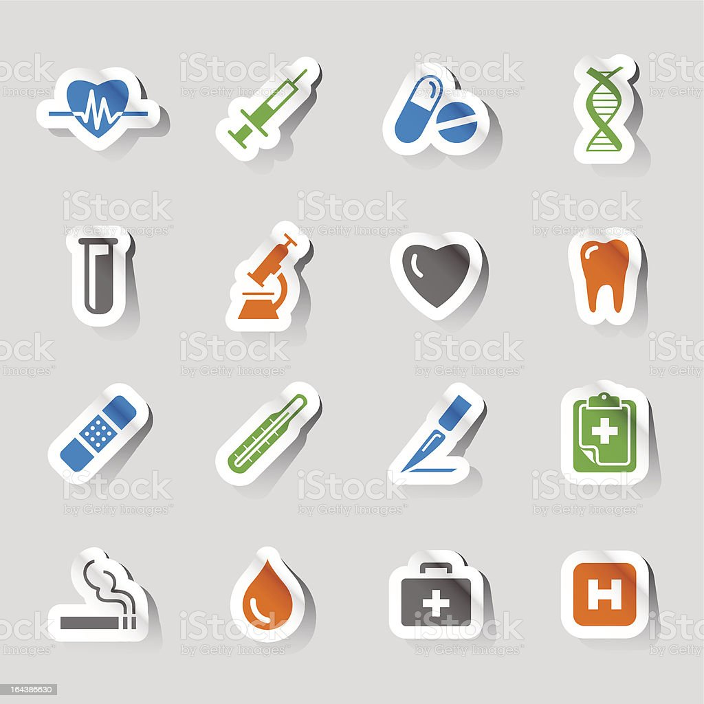 Stickers - Medical and Healthcare royalty-free stock vector art