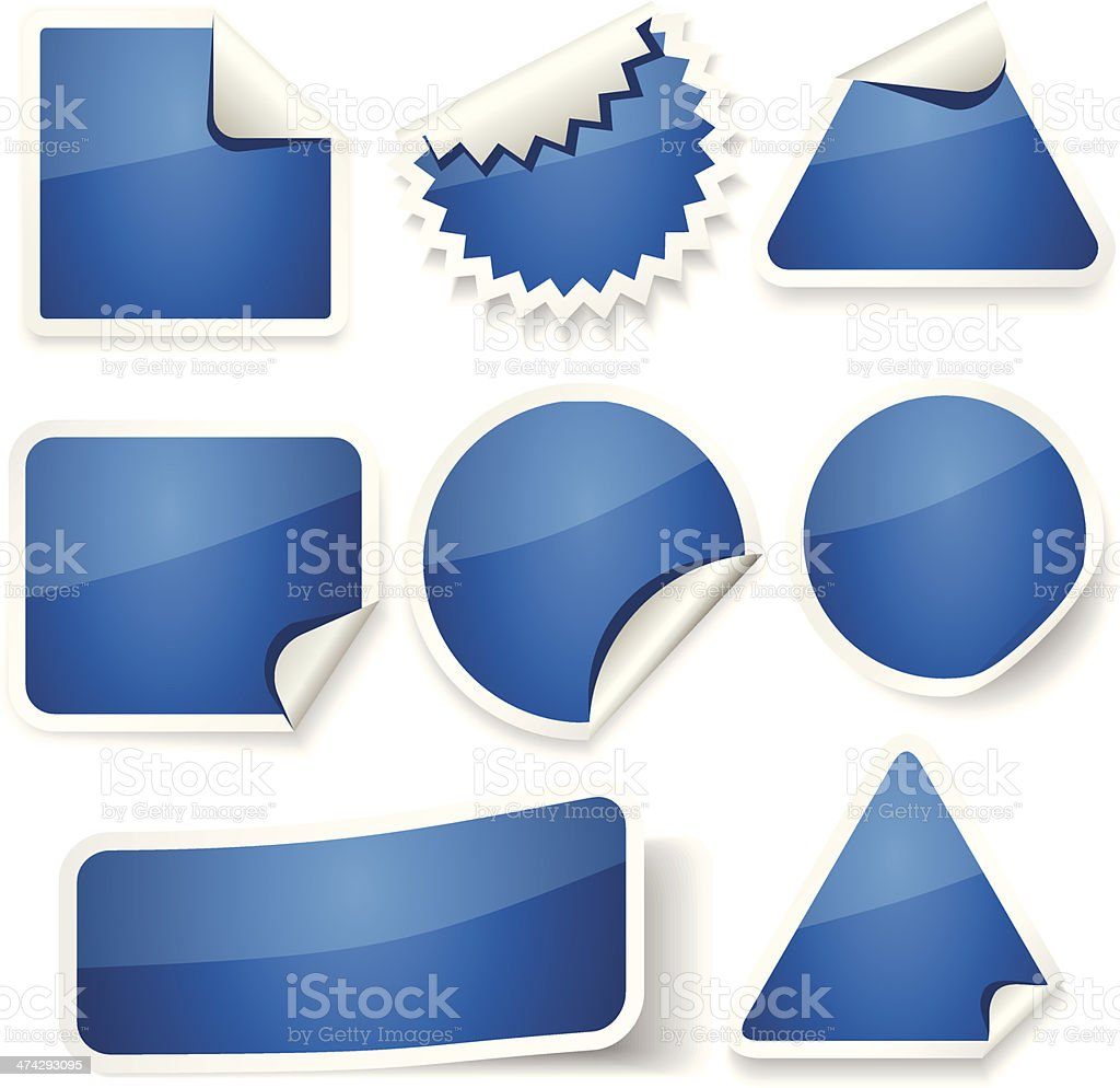 Stickers Set royalty-free stock vector art