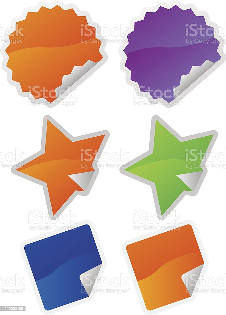 stickers shop royalty-free stock vector art