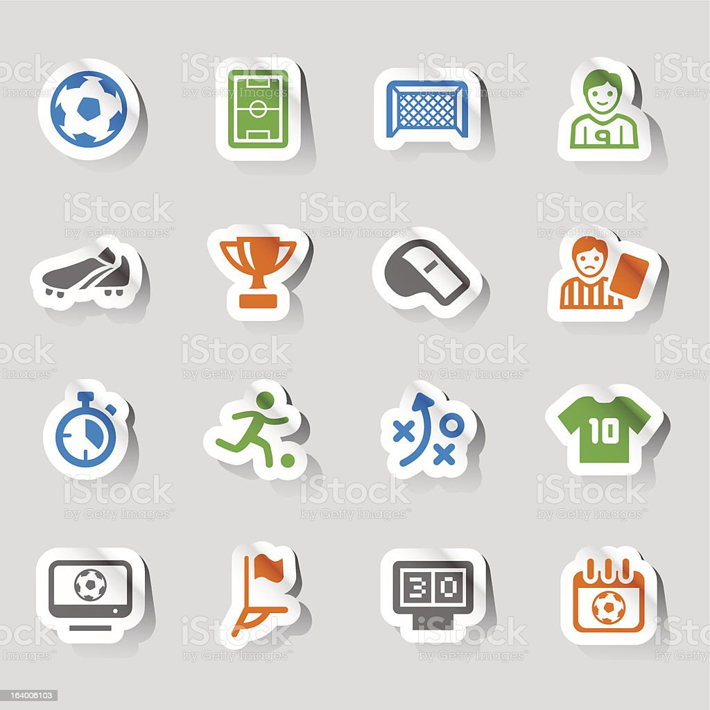 Stickers - Soccer and Sport Icons royalty-free stock vector art