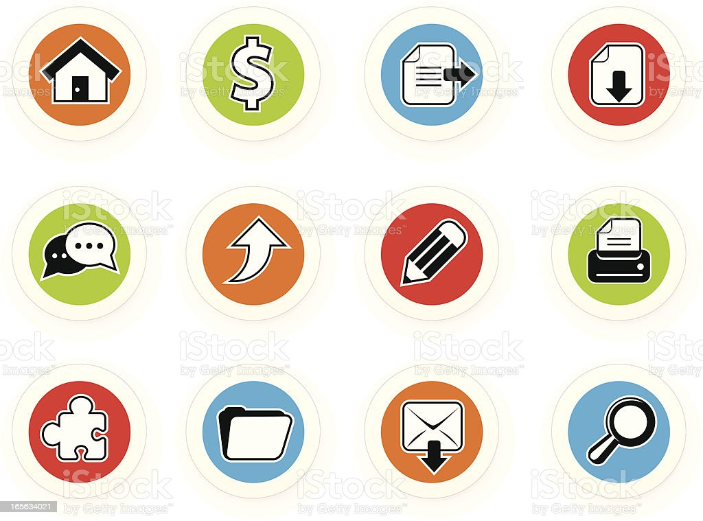 stickers (BW) royalty-free stock vector art