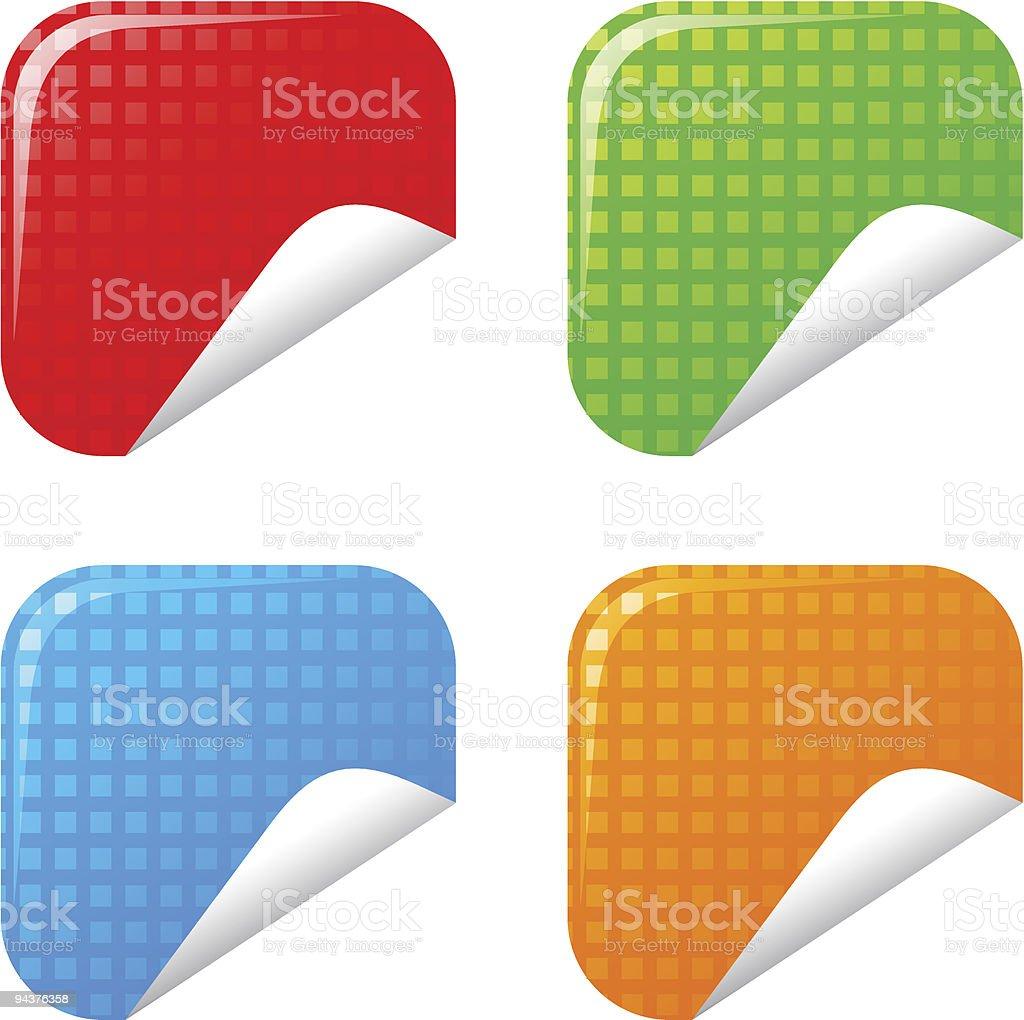 Stickers vector art illustration