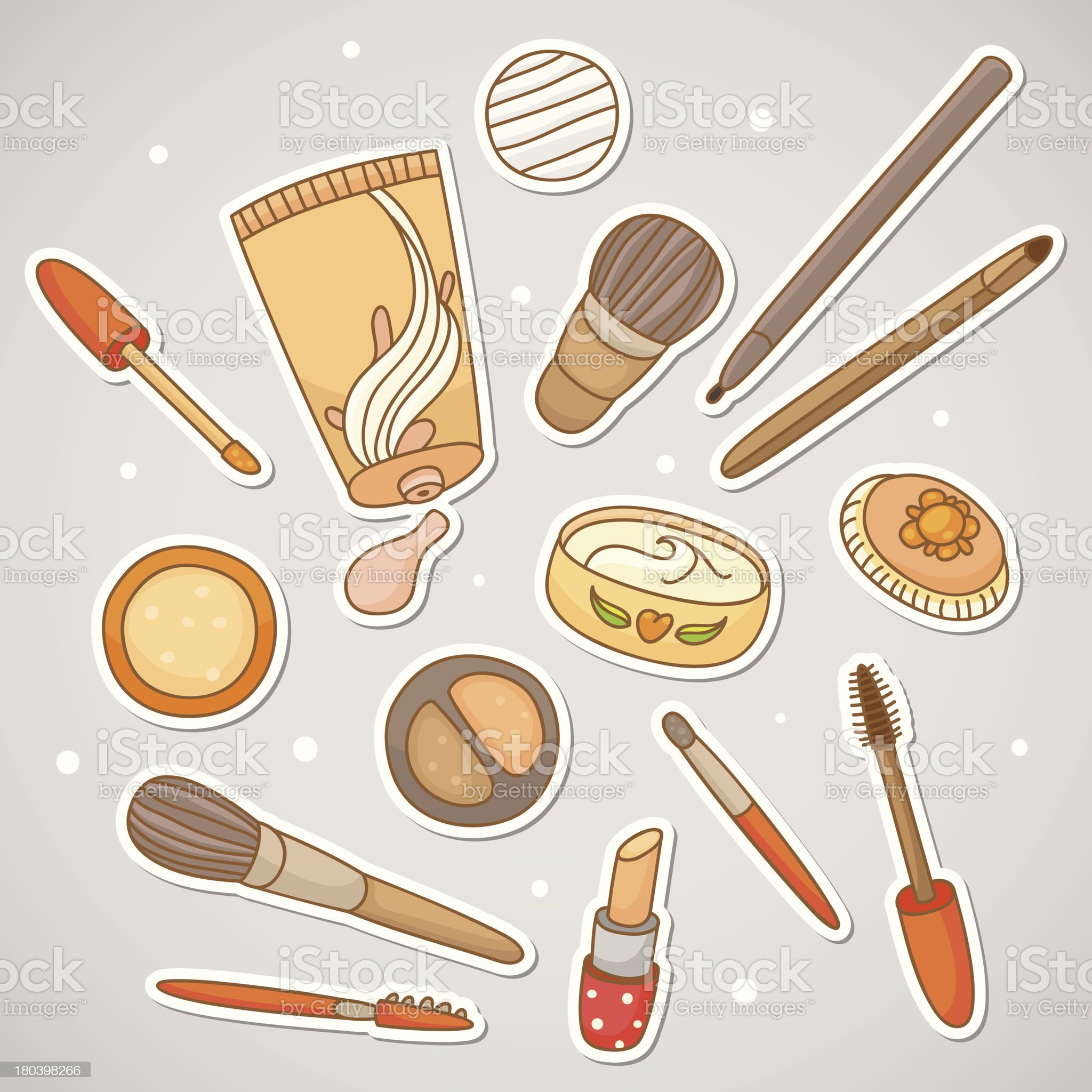 Stickers with cosmetics royalty-free stock vector art