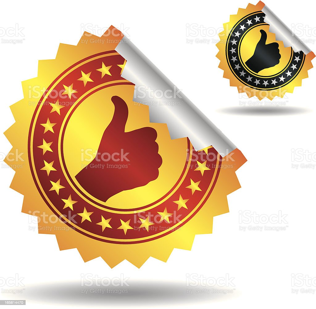 Stickers with quality mark royalty-free stock vector art