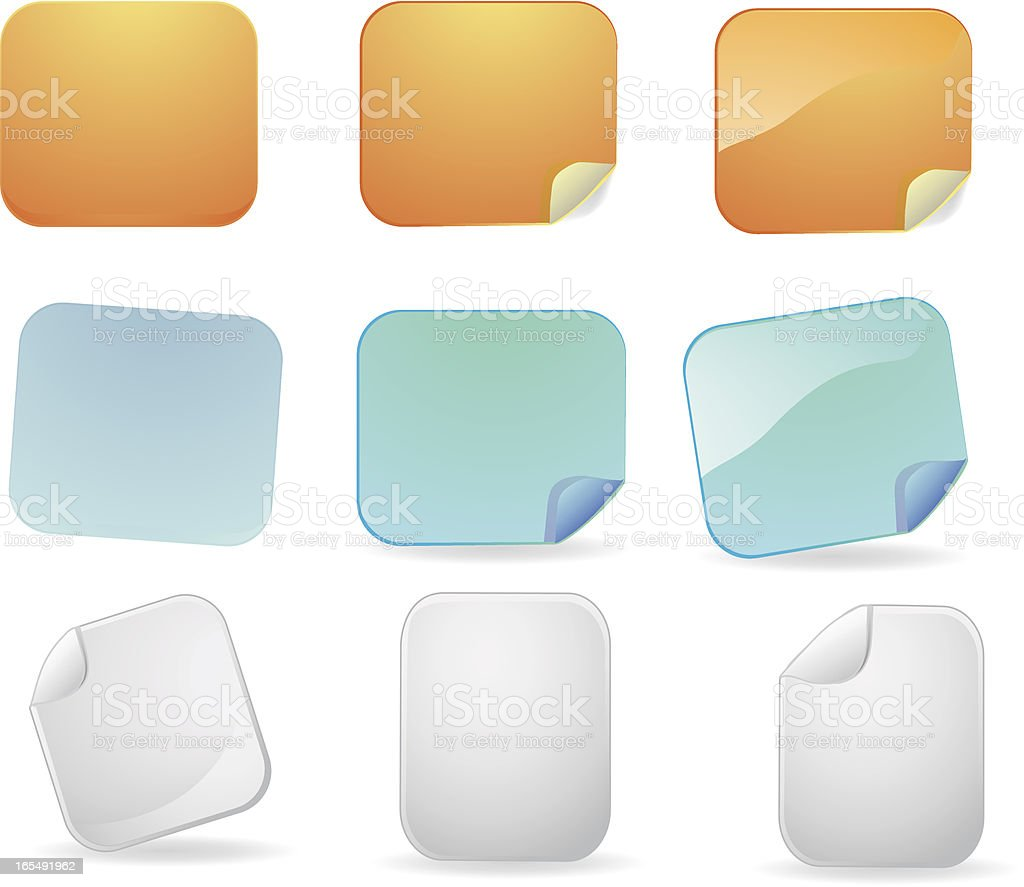 Stickies, Labels and Tags royalty-free stock vector art