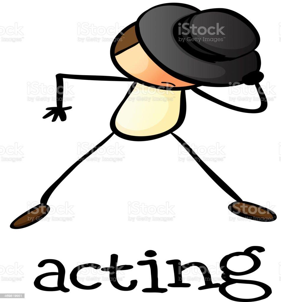 stickman acting royalty-free stock vector art