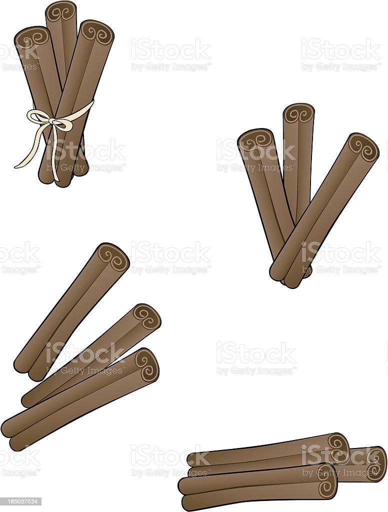 CINNAMON sticks illustration vector art illustration