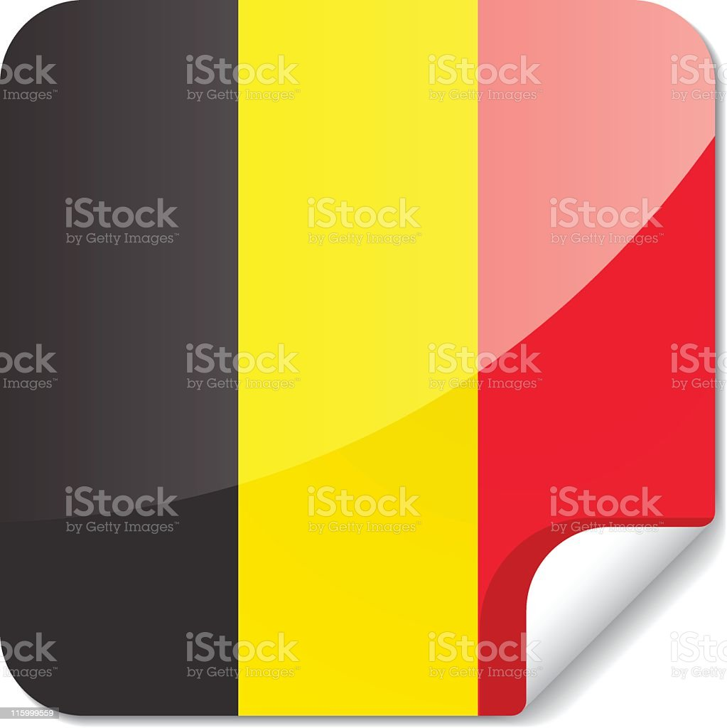 Sticky Flags | belgium royalty-free stock vector art