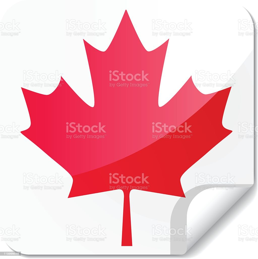 Sticky Flags | canada royalty-free stock vector art