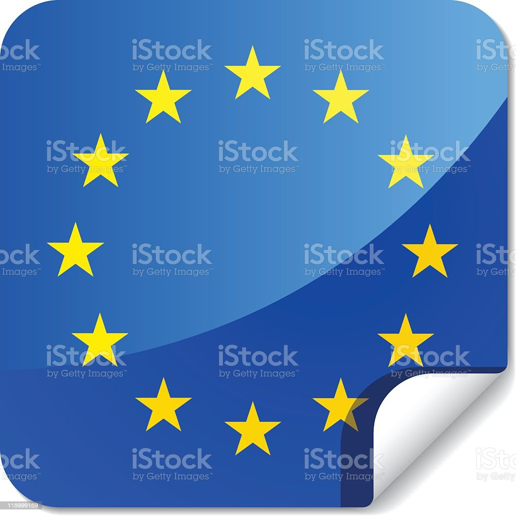 Sticky Flags   europe royalty-free stock vector art