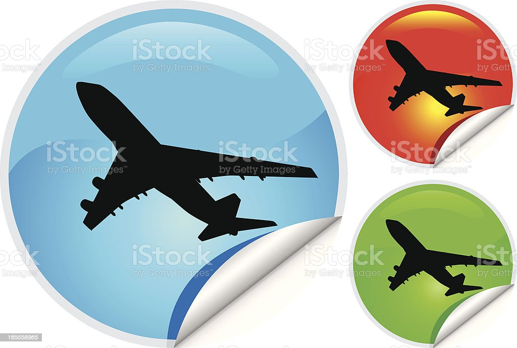 Sticky icon (Travel & transport concept) royalty-free stock vector art