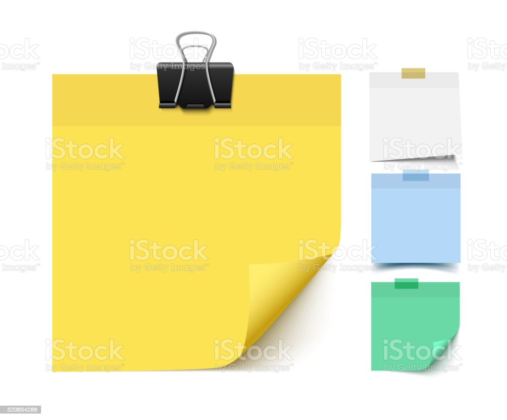 Free vector graphic sticky note note info paper free image on - Sticky Note Paper Set Royalty Free Stock Vector Art