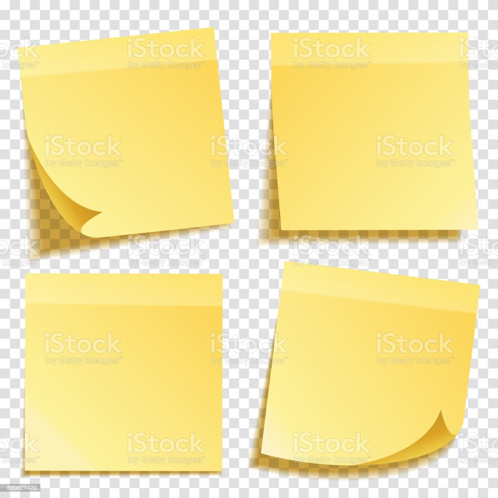 Free vector graphic sticky note note info paper free image on - Sticky Note With Shadow Isolated On Transparent Background Set Yellow Paper Message On Notepaper