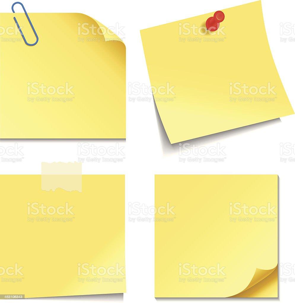 Sticky Notes vector art illustration