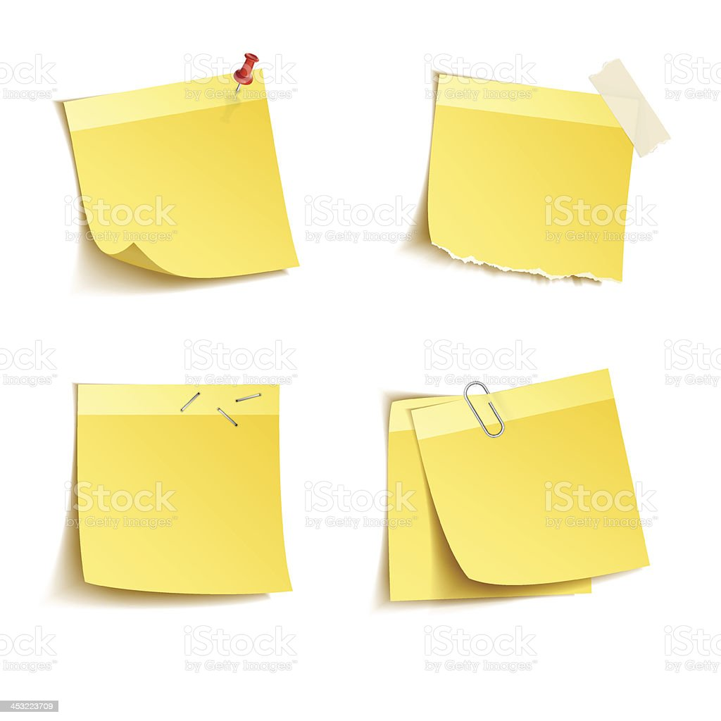 Sticky notes royalty-free stock vector art