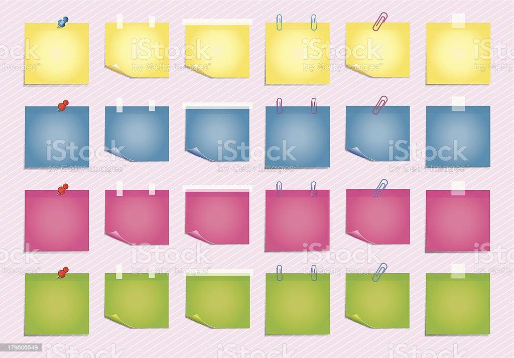 Sticky Sheet royalty-free stock vector art
