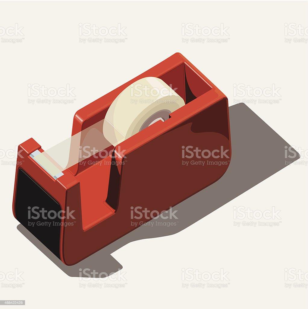 sticky tape dispenser royalty-free stock vector art
