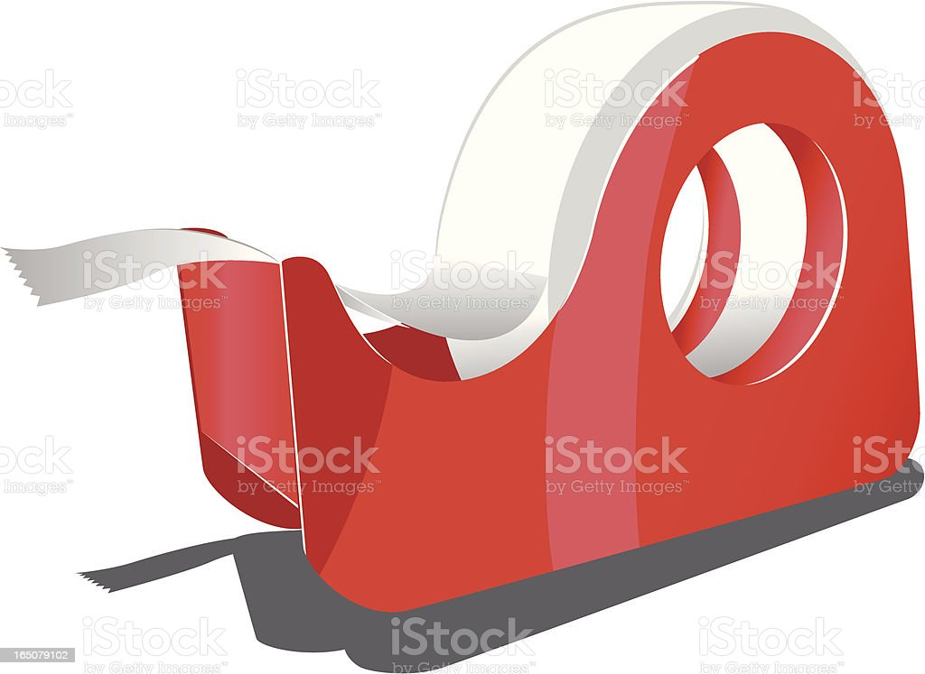 sticky tape vector art illustration