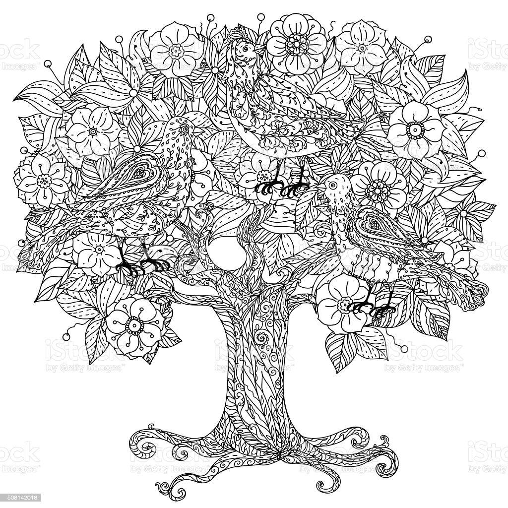 Still life with flowers vector art illustration