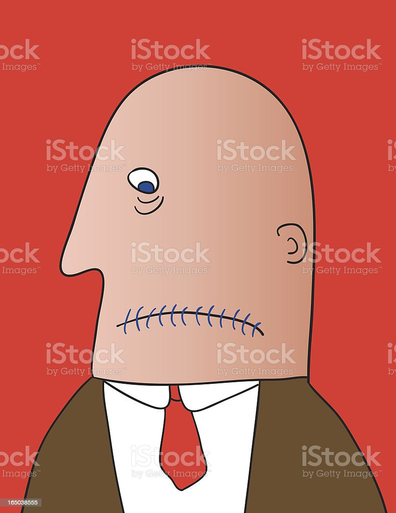 stitched mouth royalty-free stock vector art
